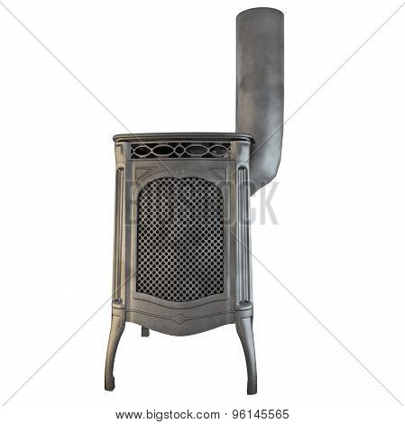 Fireplace side view 3d graphics