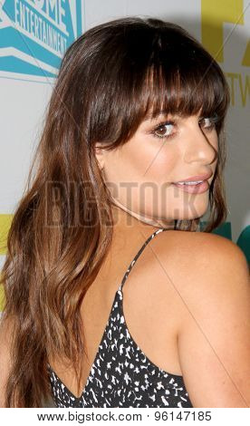 SAN DIEGO, CA - JULY 10: Lea Michele arrives at the 20th Century Fox/FX Comic Con party at the Andez hotel on July 10, 2015 in San Diego, CA.