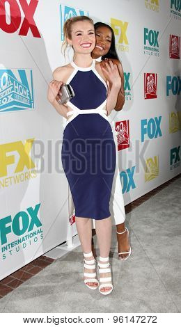 SAN DIEGO, CA - JULY 10: Skyler Samuels and Keke Palmer arrive at the 20th Century Fox/FX Comic Con party at the Andez hotel on July 10, 2015 in San Diego, CA.