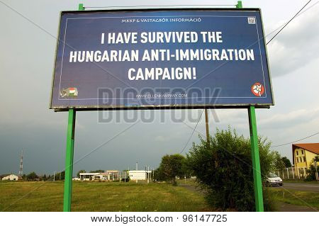immigration billboard campaign in Hungary