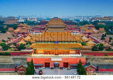 Beijing, China at the ancient Forbidden City.