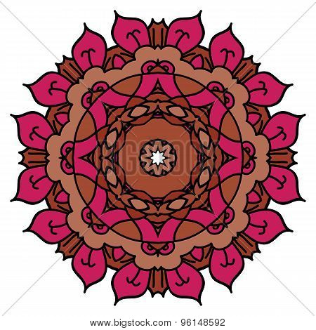 Red Vector Mandala