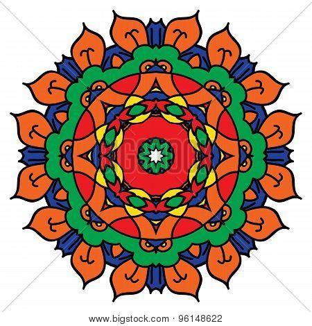 Bright Vector Mandala