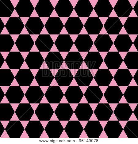 Geometrical Pink And Black Seamless Pattern