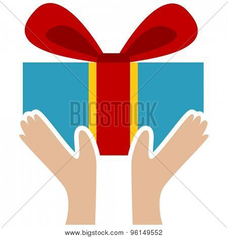 An image of a handmade wrapped present with bow.