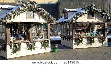 Christmas Winter Wonders market on Manege square