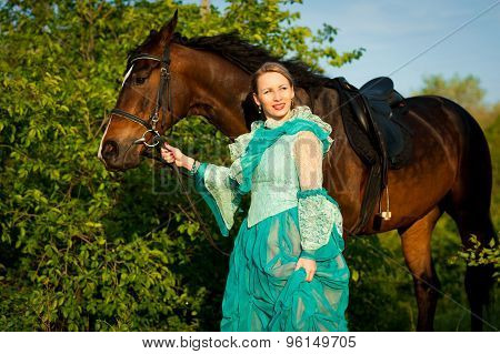 Girl And Her Horse.