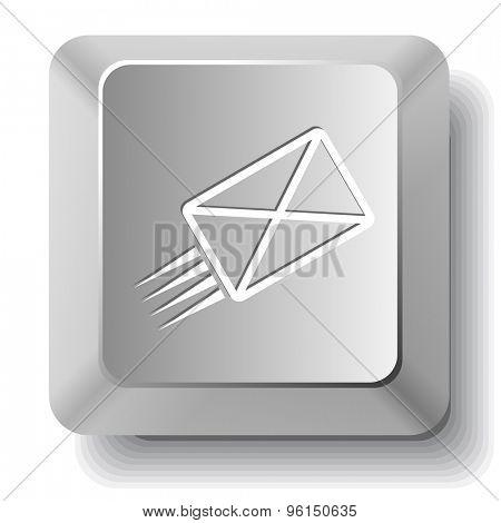 send mail. Vector computer key.
