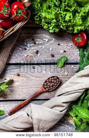 Spices And Vegetables