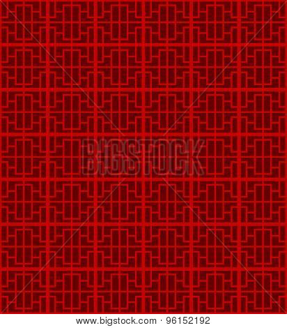 Seamless Chinese window tracery star square pattern background.