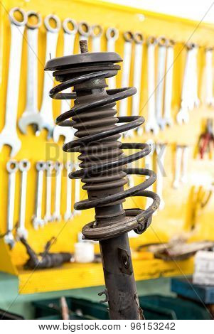 Old Shock Absorber From A Car