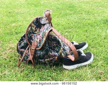 Bag and sneakers