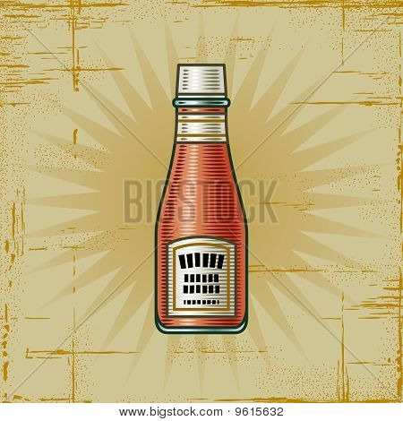 Retro Ketchup Bottle
