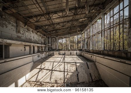Chernobyl - Abandoned Swimming Pool In Pripyat