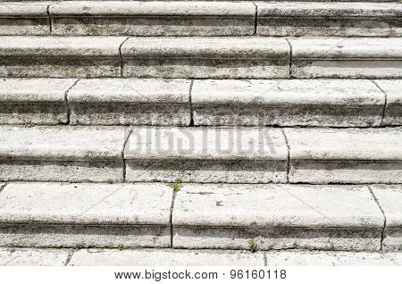 Old  White Stone Staircase Closeup