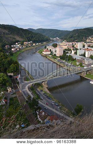 River Labe In Decin, Czech Republic