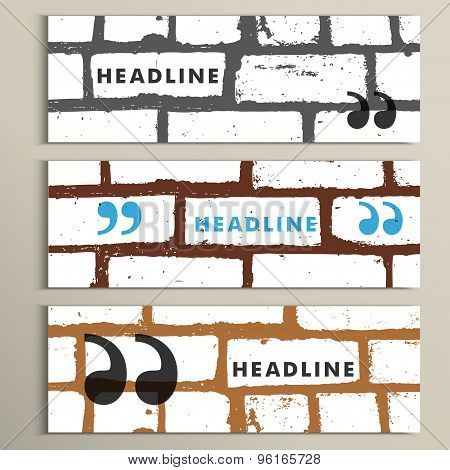 Speech bubble on a brick wall background