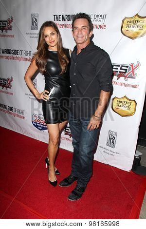 LOS ANGELES - JUL 14:  Lisa Russell, Jeff Probst at the