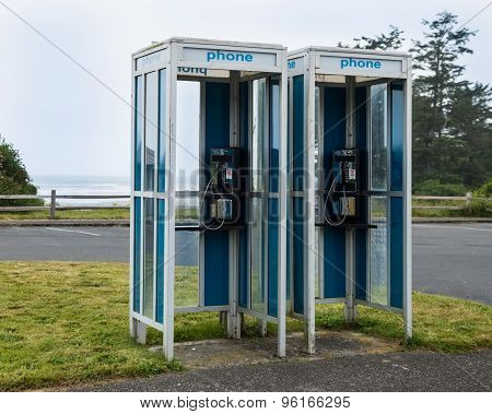 Dual Telephone Booth
