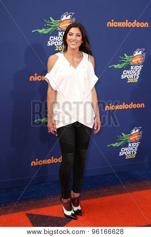 LOS ANGELES - JUL 16:  Hope Solo at the 2015 Kids' Choice Sports at the UCLA's Pauley Pavilion on July 16, 2015 in Westwood, CA