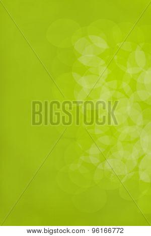 Soft green bokeh.