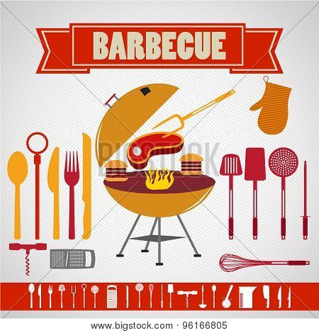 Barbecue set collection - Restaurant - Illustration