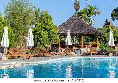 Beautiful resort on Samosir island, Sumatra, Indonesia