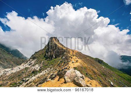Sibayak volcano near Berastagi in northern Sumatra, Indonesia