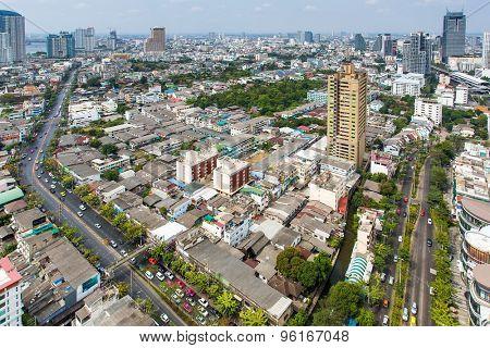 Landscape of Bangkok city day view