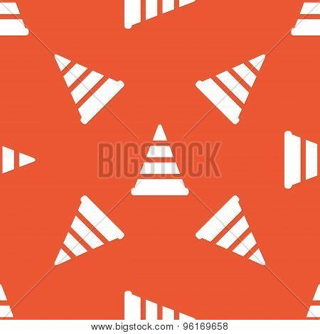 Orange traffic cone pattern