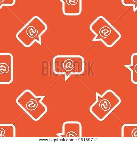 Orange mail message pattern