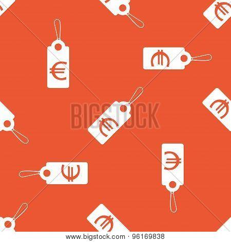 Orange euro price pattern