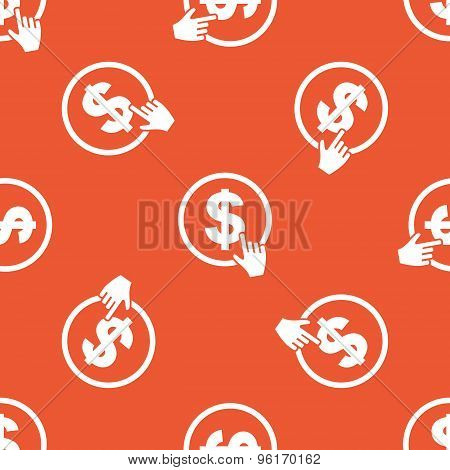 Orange click on dollar pattern