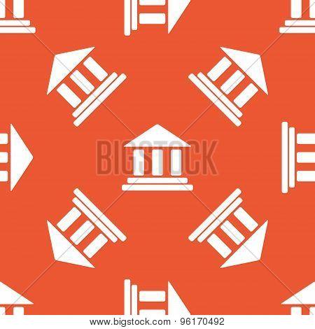 Orange museum pattern
