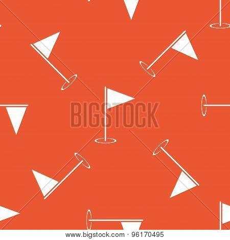 Orange flagstick pattern