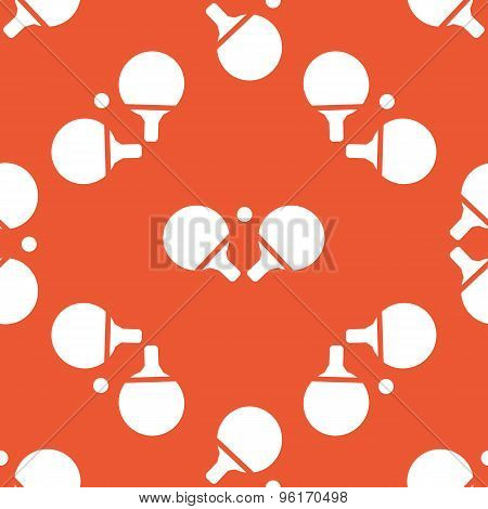 Orange table tennis pattern