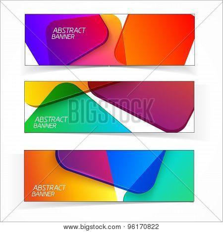 Abstract geometric headers.