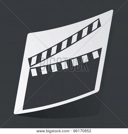 Monochrome clapperboard sticker