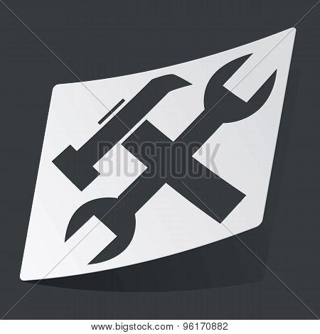 Monochrome settings sticker