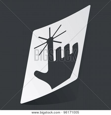 Monochrome hand cursor sticker