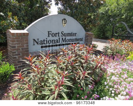 Fort Sumter National Monument sign