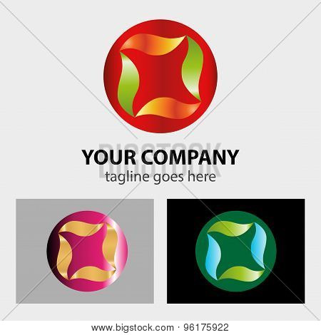 Sphere Abstract vector logo design  llustration  template.