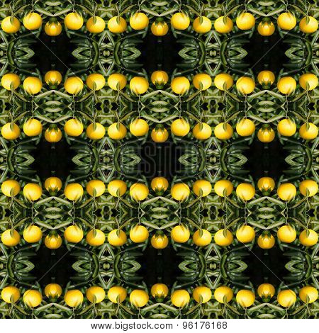 Japanese Orange Seamless Pattern Background