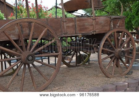 old wood wagon