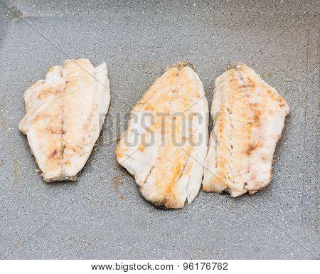 Fillets Fish Grilled Close-up