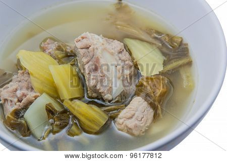 Pickled Cabbage Soup With Pork Ribs.