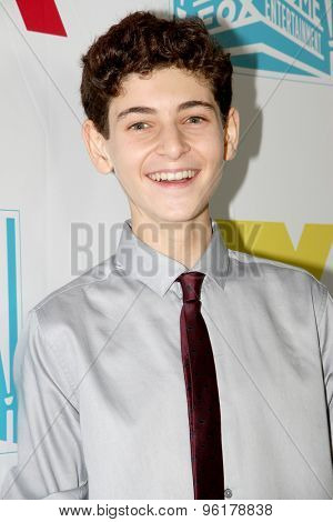 SAN DIEGO, CA - JULY 10: David Mazouz arrives at the 20th Century Fox/FX Comic Con party at the Andez hotel on July 10, 2015 in San Diego, CA.