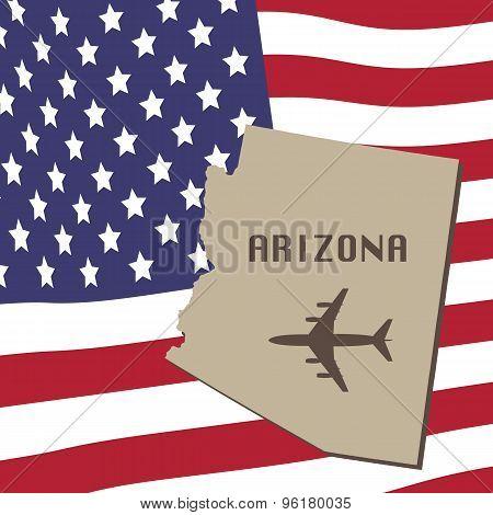 Arizona Air Travel Vector Concept