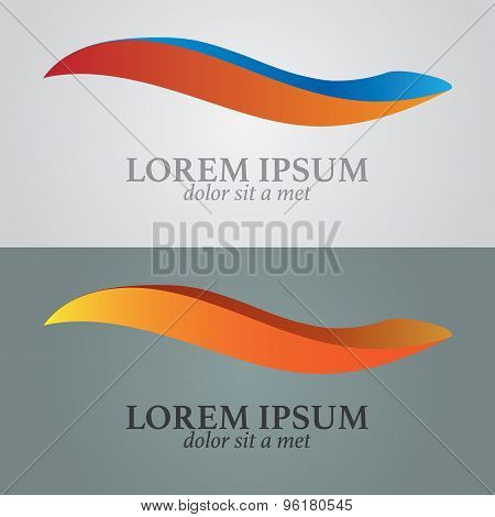 Business Abstract Wave Icon. Corporate, Media, Technology Styles Vector Logo Design Template.