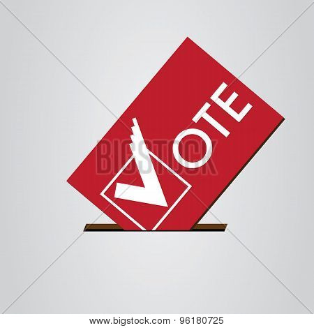 Card with Voting Symbols Vector Design